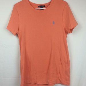 Women's peach colored Ralph Lauren T-shirt XL